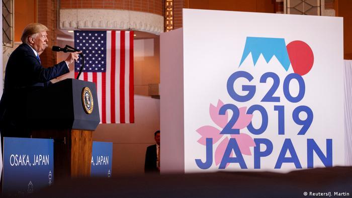 Дональд Трамп на саммите G20 в Осаке