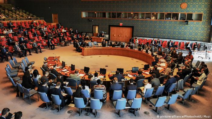 Members of the UN Security Council meet in New York (picture-alliance/Photoshot/Li Muzi)