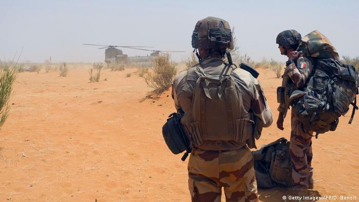 Mali Gossi Minusma-Mission Soldaten aus Frankreich