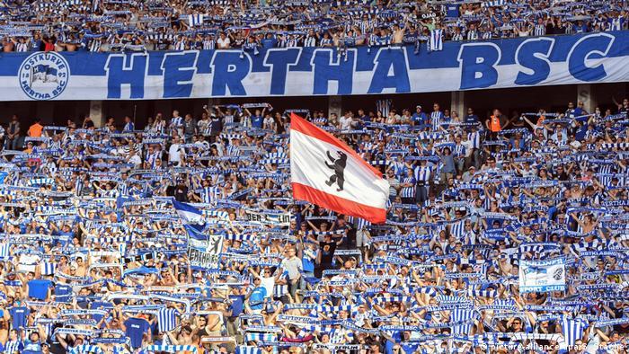 torcedores do Hertha Berlim