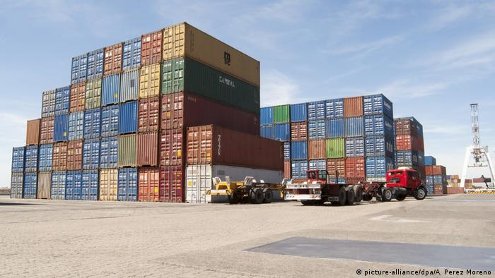 Containers in the port of Buenos Aires, Argentina