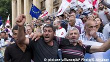 Georgien Anti-Regierungsproteste in Tiflis