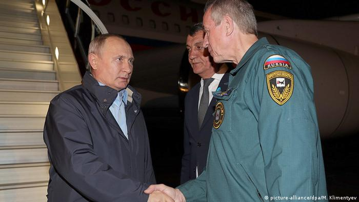 Vladimir Putin arrives in Bratsk