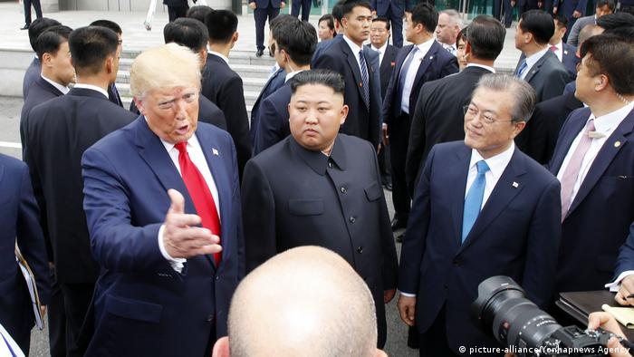 Washington and Pyongyang blame each other for the impasse, but Trump is hopeful for a breakthrough in nuclear talks. Although his previous two meetings with the North Korean leader didn't yield any result, Trump said he was in no rush to defuse tensions on the Korean Peninsula.