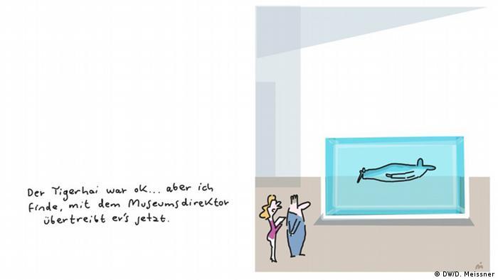 Cartoon von Dirk Meissner zum Thema Kunst im Museum (DW/D. Meissner)