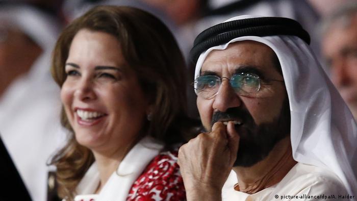 VAE Prinzessin Haya bint al-Hussein mit Ehemann Prinz Mohammed bin Raschid al Maktoum