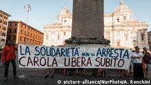 Italien Rettungsboot Sea-Watch 3, Solidarität mit Carola Rackete, Kapitänin