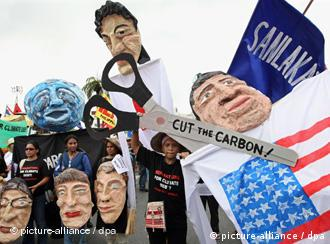 Climate activists rally to call for rich countries to pay their debt concerning on climate change, October 2009 in Bangkok