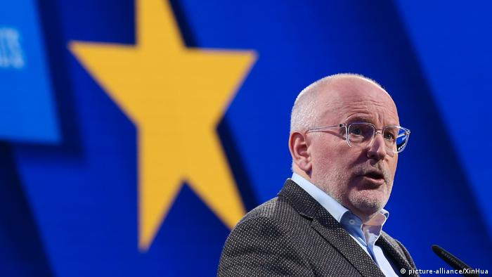Frans Timmermans of the Netherlands was backed by France and Spain