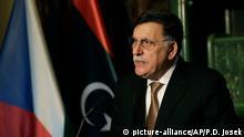 فايز السراج رئيس حكومة الوفاق الليبية (أرشيف)