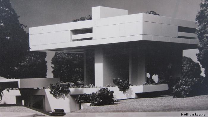 Model of Bauhaus design for the German ambassador's residence in Buenos Airs (William Roesner)