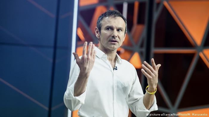 Ukraine Swiatoslaw Wakartschuk von Partei Holos (Stimme) (picture-alliance/NurPhoto/M. Marusenko)