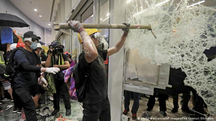 Hong Kong protesters were filmed breaking into the legislature