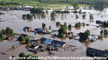 Russland Sibirien Überschwemmungen