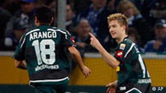 Bundesliga Schalke 04 gegen Borussia Moenchengladbach