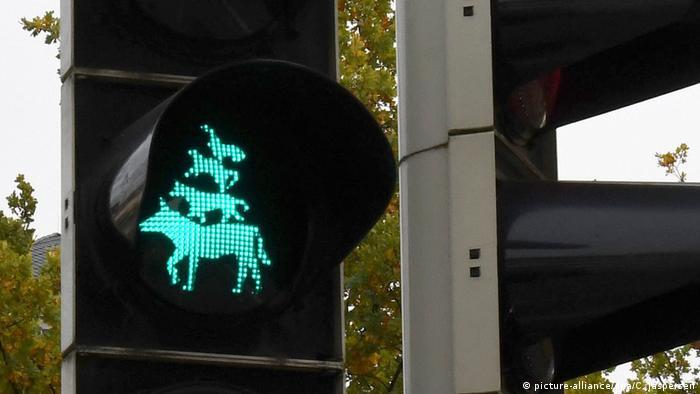 Бременские музыканты. Пешеходный светофор в Бремене