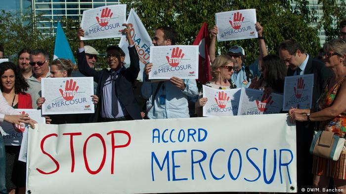 Demo gegen Mercosur Agreement