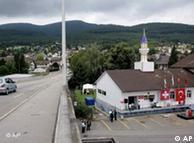 Um dos quatro minaretes na Suíça, nas imediações de Olten