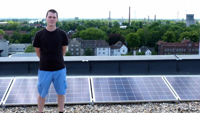 Steven Engler na krovu City Centra