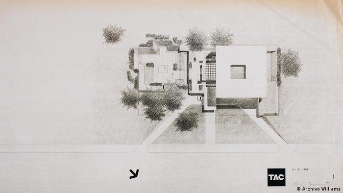 Luftbildzeichnung von TAC Entwurf Residenz des deutschen Botschafters (NEU!) (Archivo Williams)