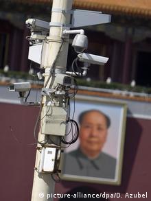 Überwachungskameras am Tiananmen-Platz in Peking