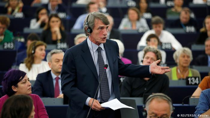 O italiano David-Maria Sassoli, de 63 anos, foi eleito como novo presidente do Parlamento Europeu