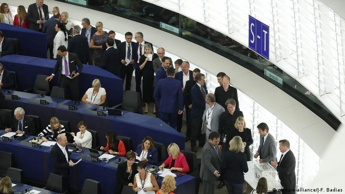 Депутаты Европарламента в Страсбурге, 3 июля