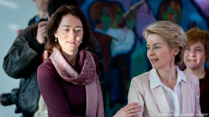 Katarina Barley and Ursula von der Leyen
