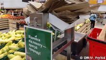 Ukraine Lokale Supermarktkette promotet Verzicht von Verpackungstüten