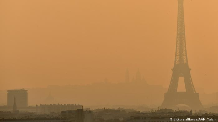 Paris, June 2019: A heatwave exacerabtes air pollution