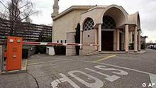 The minaret of the big mosque of Geneva captured on Sunday Nov. 29, 2009 in Geneva, in Switzerland. Swiss people accepted this Sunday the initiative forbidding the construction of new minarets in Switzerland. (AP Photo/Keystone, Dominic Favre)