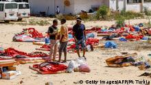 Libyen Tripolis nach dem Luftangriff auf das Tajoura Detention Center