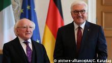 Deutschland Berlin Michael D. Higgins und Frank-Walter Steinmeier