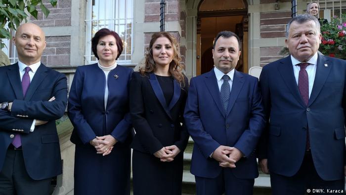 Saadet Yüksel'in (ortada) yemin törenine katılan Türk Yüksek Mahkemeleri'nin başkanları