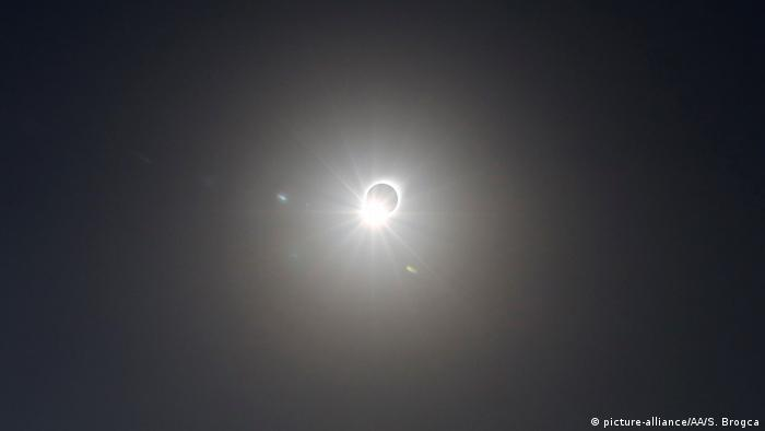 Totaler Sonnenfinsternis in Südamerika