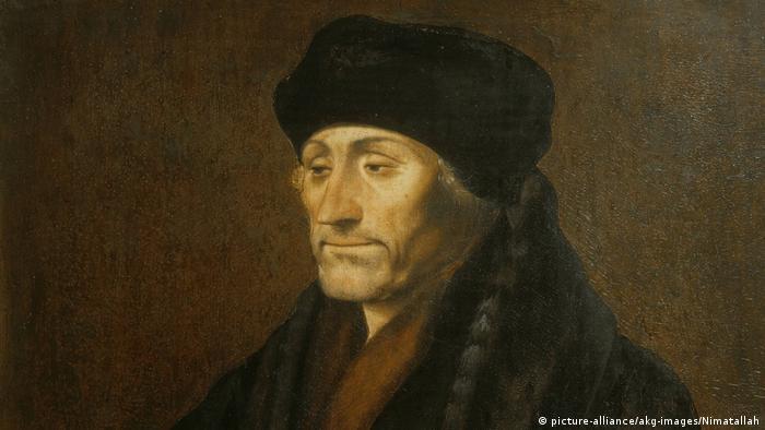 Gemälde von Erasmus von Rotterdam, Humanist, Philologe und Kirchenkritiker. (Bild: picture-alliance/akg-images/Nimatallah)