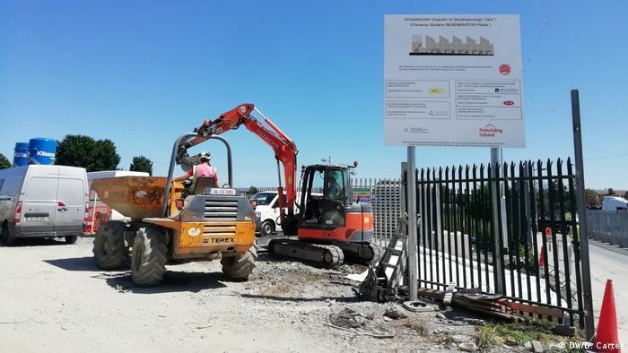 Irland Dublin Baustelle in Stoneybatter (DW/D. Carter)