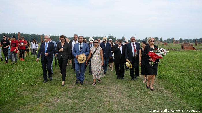 Roma and Sinti visit Auschwitz for the 73rd anniversary of the 1944 mass murder
