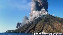 Großer Ausbruch am Vulkan Stromboli