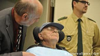 Alleged death camp guard John Demjanjuk in court in Munich