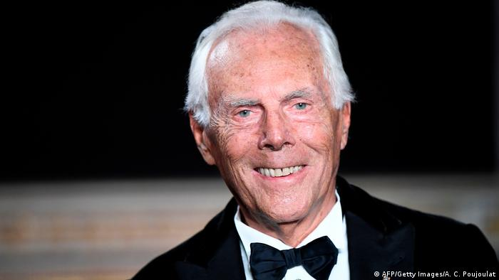 Italian fashion designer Giorgio Armani at 85