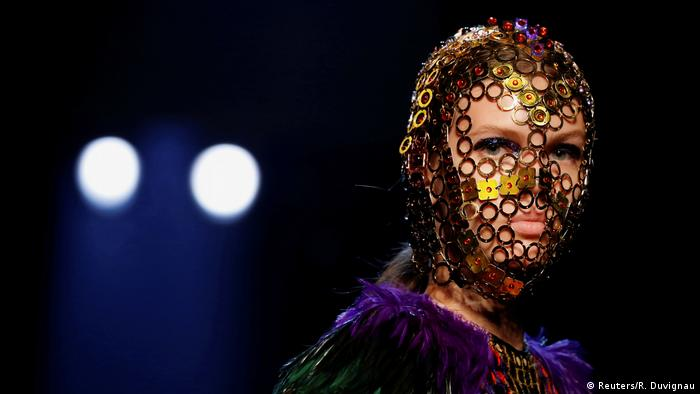 A model presents a creation by designer Jean Paul Gaultier (Reuters/R. Duvignau)