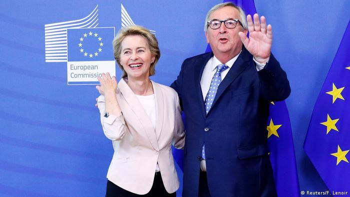 Brüssel EU   Ursula von der Leyen & Jean-Claude Juncker, EU-Kommissionspräsident