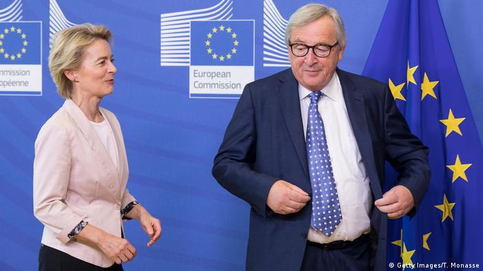 Ursula von der Leyen and Jean-Claude Juncker, (Getty Images/T. Monasse)