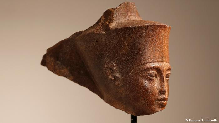 The Tutankhamun sculpture auctioned by Christie's
