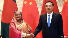 Bangladesch Prime Minister Sheikh Hasina with Chinese Prime Minister Li Keqiang