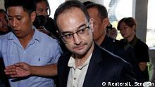 Riza Aziz, stepson of former Malaysia's Prime Minister Najib Razak, arrives at a court in Kuala Lumpur, Malaysia July 5, 2019. REUTERS/Lai Seng Sin
