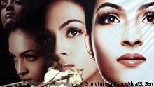 Indien Neu Delhi Werbung Hautaufhellung