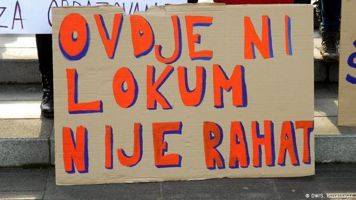 Detalj sa jednog od studentskih protesta u Sarajevu