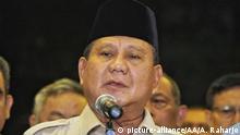 Indonesien Politiker Prabowo Subianto